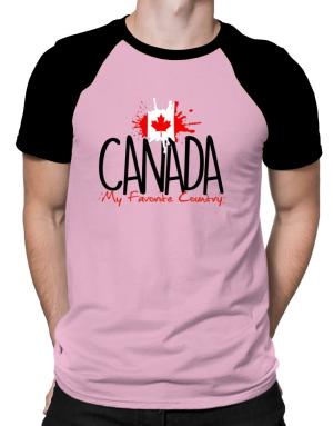 Canada my favorite country Raglan T-Shirt