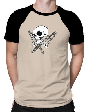Polo Raglan de Skull and Trombone