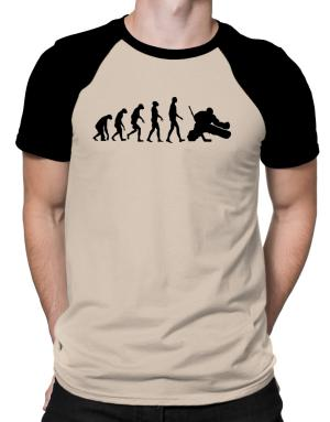 Ice Hockey Goalie Evolution Raglan T-Shirt