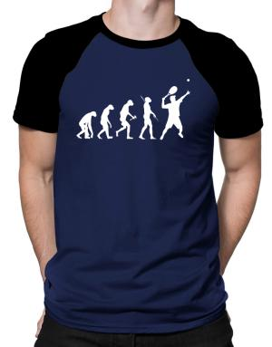 Tennis Player Evolution Raglan T-Shirt