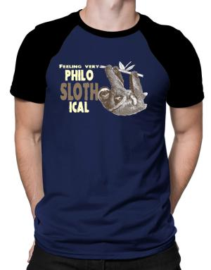 Philosophical Sloth Raglan T-Shirt