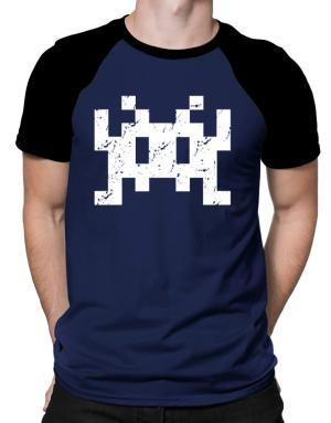 Polo Raglan de Space invaders retro