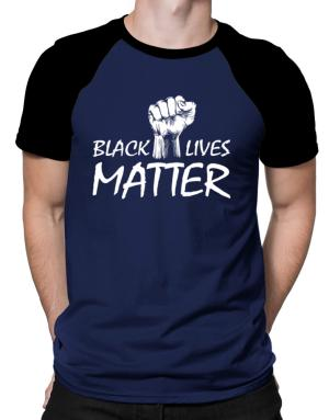 Polo Raglan de Black lives matter