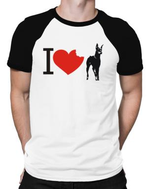 I love Doberman Pinschers Raglan T-Shirt