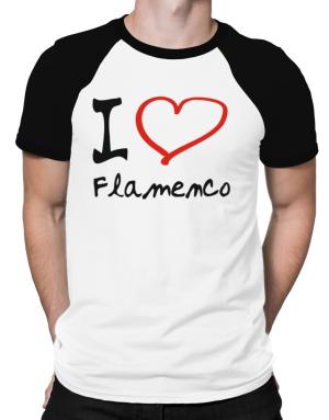 I Love Flamenco Raglan T-Shirt