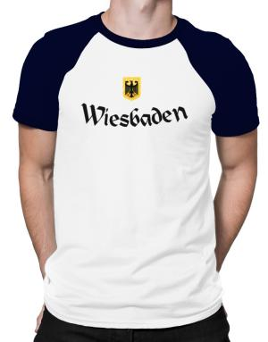 WIesbaden Germany Raglan T-Shirt