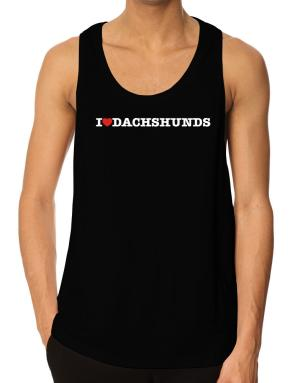 I Love Dachshunds Tank Top