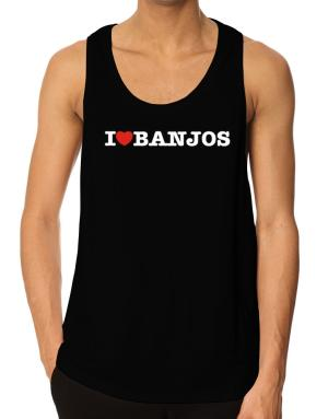 I Love Banjos Tank Top