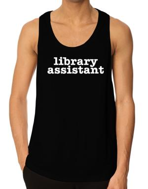 Library Assistant Tank Top