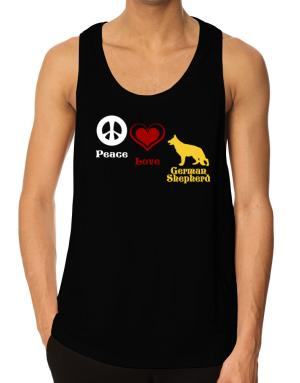 Peace, Love, German Shepherd Tank Top