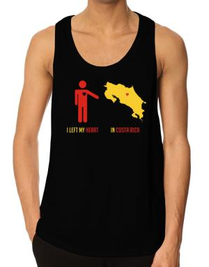 I Left My Heart In Costa Rica - Map Tank Top