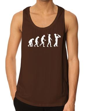 Saxophone Player Evolution Tank Top