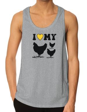I love my chickens Tank Top