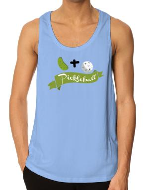 Pickle plus ball equals pickleball Tank Top