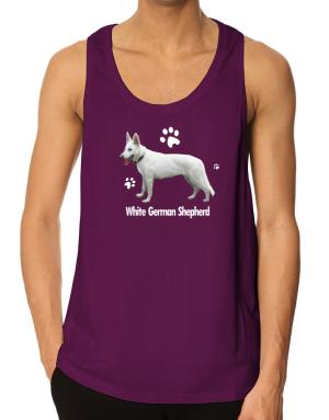 White German Shepherd Tank Top