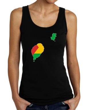Sao Tome And Principe - Country Map Color Simple Tank Top Women