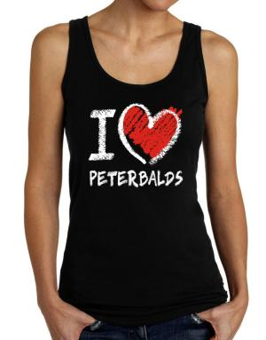 I love Peterbalds chalk style Tank Top Women
