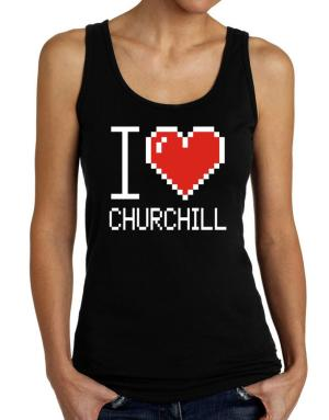 I love Churchill pixelated Tank Top Women