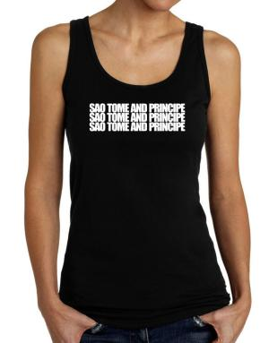 Sao Tome And Principe three words Tank Top Women