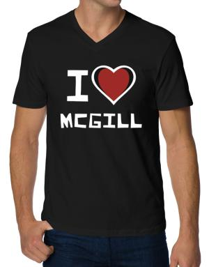 I Love Mcgill V-Neck T-Shirt