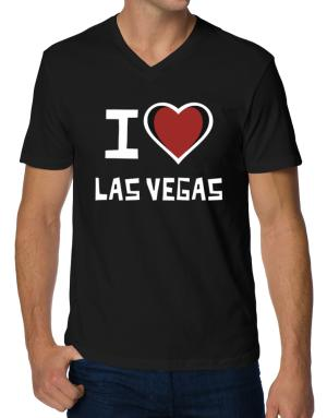 I Love Las Vegas V-Neck T-Shirt