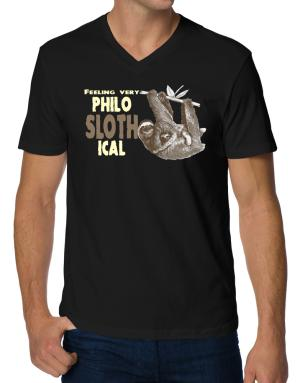 Camisetas Cuello V de Philosophical Sloth