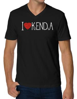 I love Kenda cool style V-Neck T-Shirt