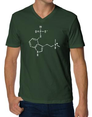 Psilocybin Chemical Formula V-Neck T-Shirt