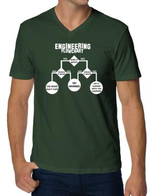 Engineering flow chart V-Neck T-Shirt