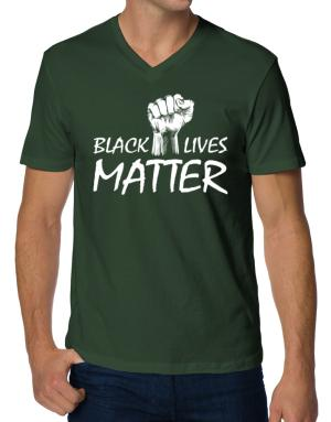 Camisetas Cuello V de Black lives matter