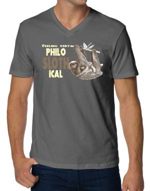 Philosophical Sloth V-Neck T-Shirt