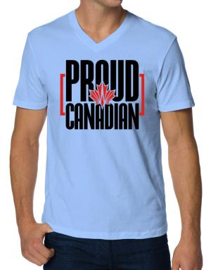 Playeras Cuello V de Canada proud Canadian