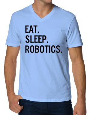 Polo Cuello V de Eat sleep robotics