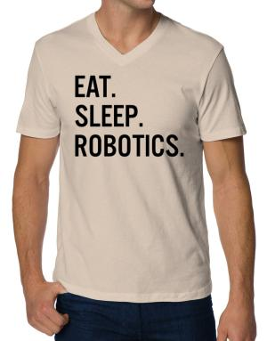 Camisetas Cuello V de Eat sleep robotics