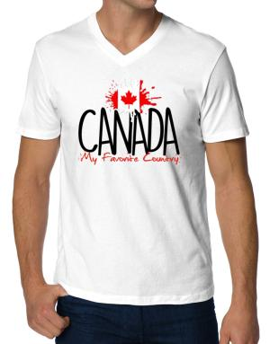 Playeras Cuello V de Canada my favorite country
