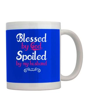 Taza de Blessed by god spoiled by my husband
