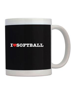 I Love Softball Mug