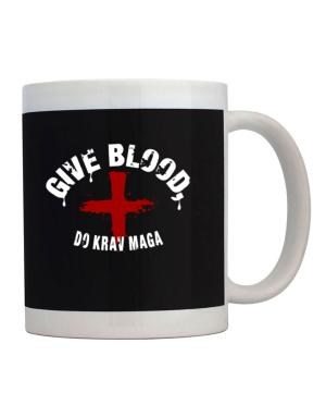 Give Blood, Do Krav Maga Mug
