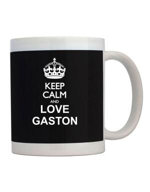 Taza de Keep calm and love Gaston