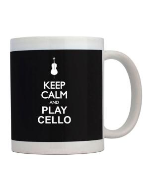 Taza de Keep calm and play Cello - silhouette