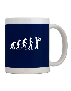 Taza de Saxophone Player Evolution