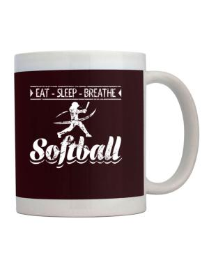 Eat sleep breathe softball Mug