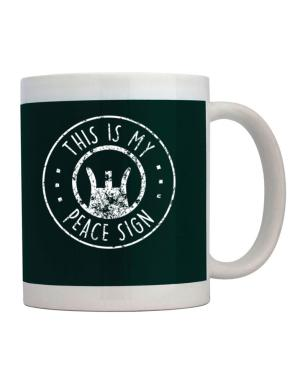 Taza de This is My Peace Sign