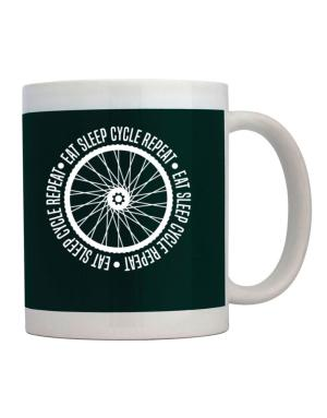 Eat sleep cycle repeat Mug