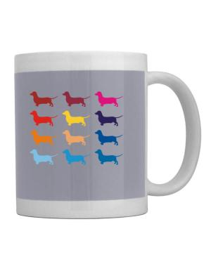 Taza de Colorful Dachshund