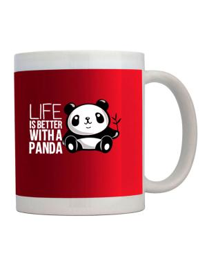 Taza de Life is better with a panda