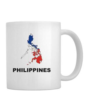 Taza de Philippines - Country Map Color
