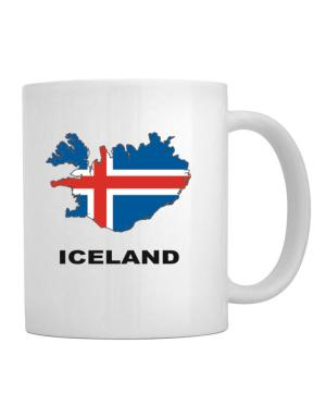 Taza de Iceland - Country Map Color