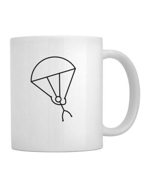 Stick Man Skydiving Mug
