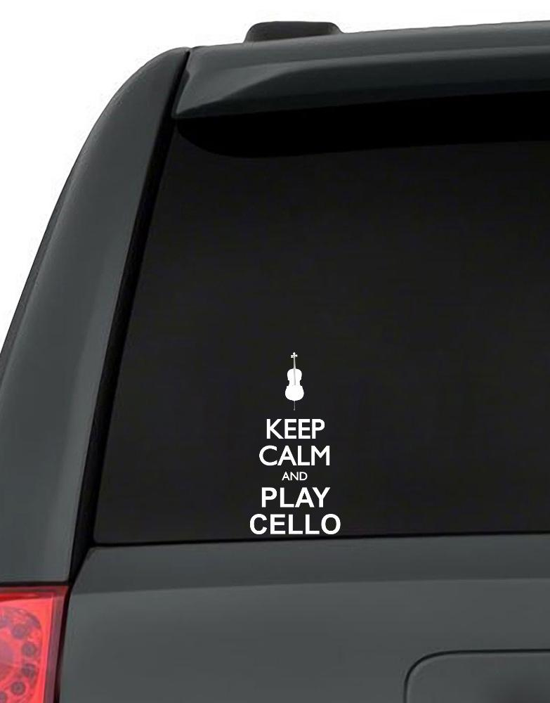 Keep calm and play Cello - silhouette